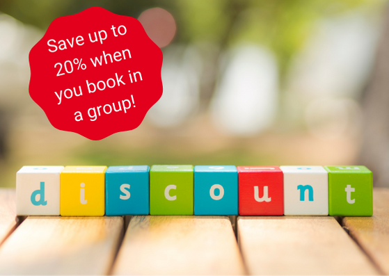 Group discounts available